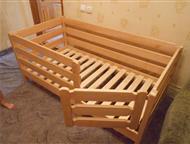 Кровать- манеж детская деревянная Кровать- манеж детская деревянная. Спальное место размером 800*1600 мм. Покрытие любым лаком 1000 руб. Делаем на зак, Магнитогорск - Мебель для детей
