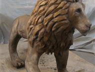 Омск: Скульптура льва Скульптура льва украсит входную группу дома, ресторана, офиса.   Скульптура из бетона размер 108х120 см, окрашен в состаренное золото
